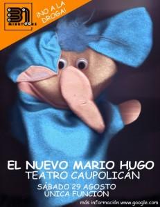 El nuevo Mario Hugo / Teatro Caupolicán / Sábado 29 agosto / única función