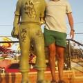 Estatua de Condorito en El Quisco
