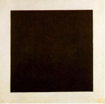 Kasimir Malévitch: Cuadro negro sobre fondo blanco